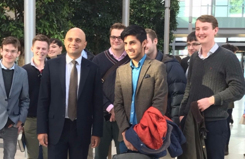 Sajid Javid with EUCA members
