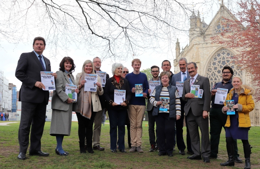 Exeter Conservatives Launch Exeter Local 2019 Manifesto: Photo credit: Harry James